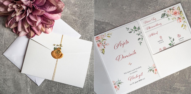 Hochzeitseinladung Arjeta & Dominik