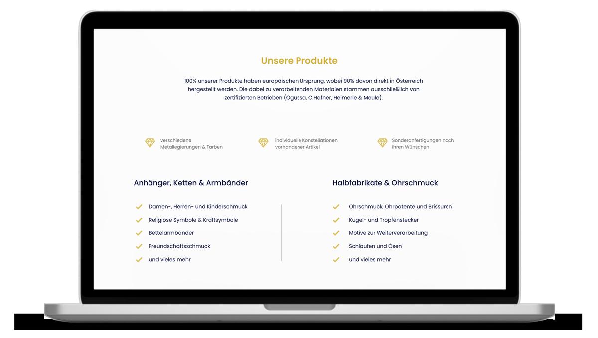Webdesign Schmuckmanufaktur Garschal