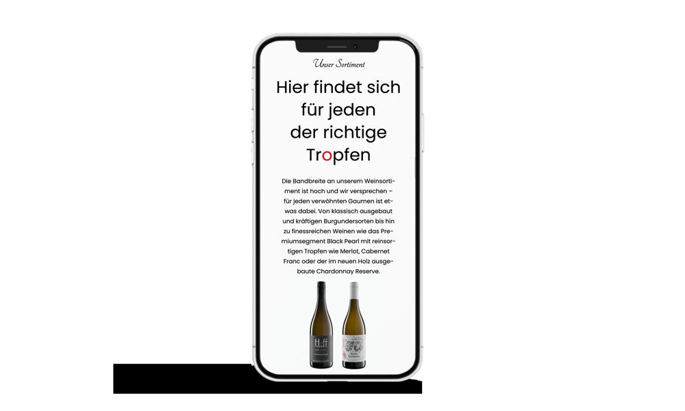 Webdesign Weingut Hoffmann