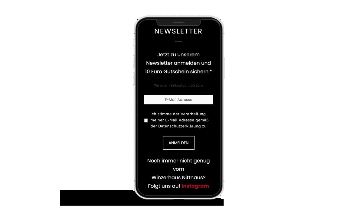 Webdesign für das Winzerhaus Nittnaus