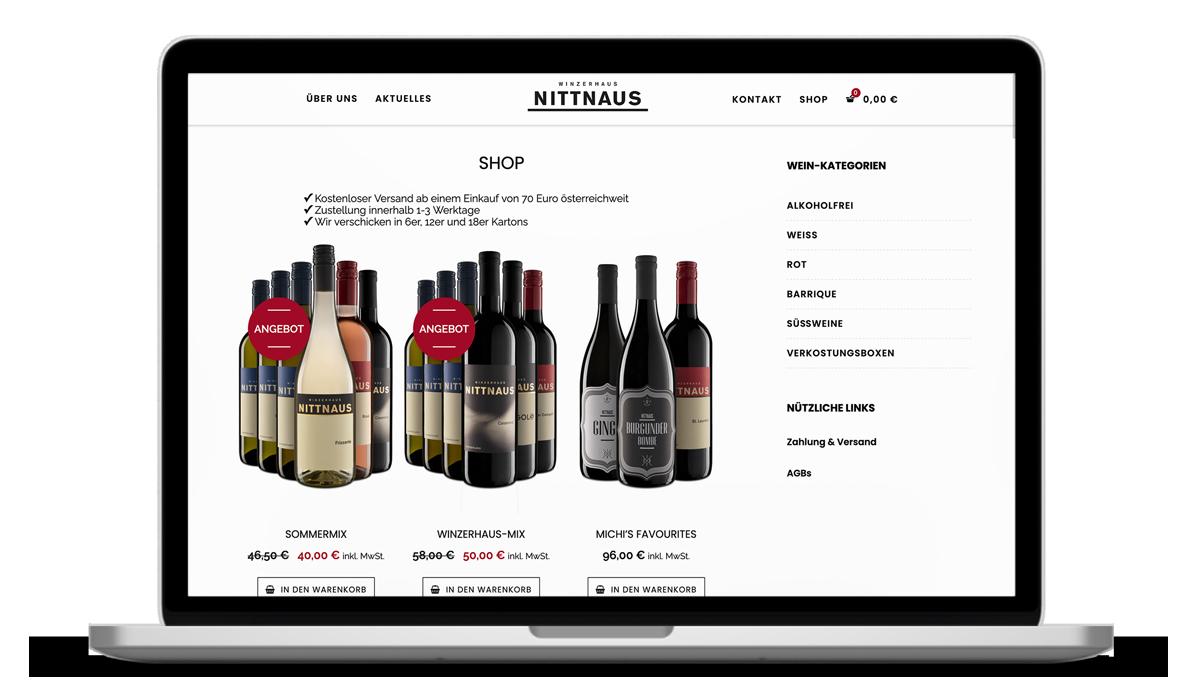 Webdesign für das WInzerhaus Nittnaus von Studio Stilhouette