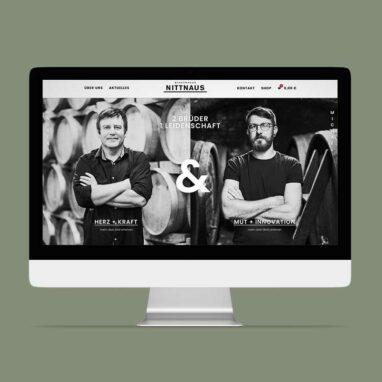 Webdesign für das Winzerhaus Nittnaus von Studio Stilhouette.